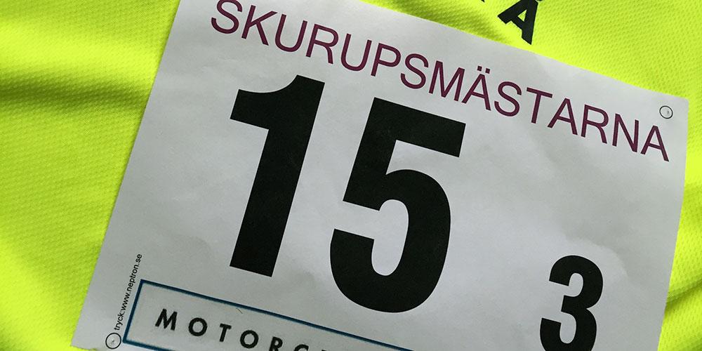 Blodad tand av löpning efter Skurupsmästarna